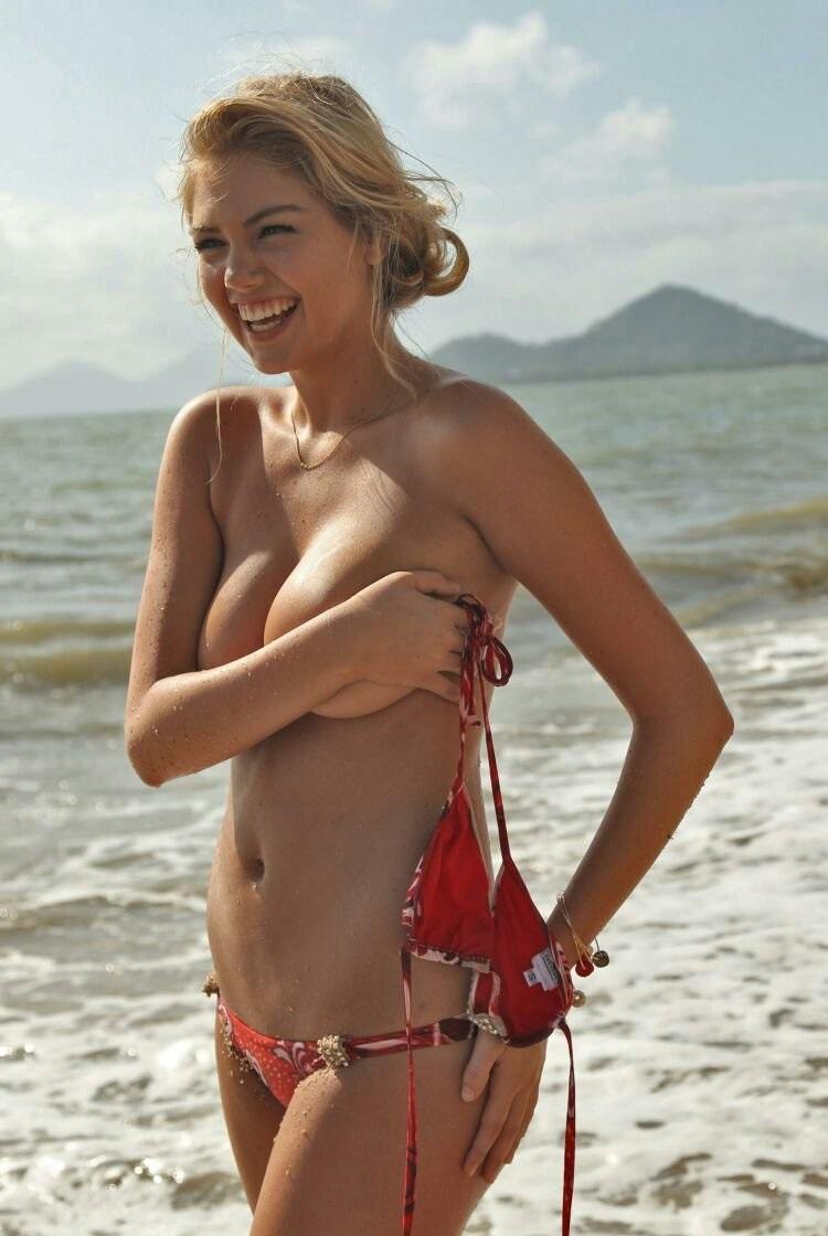 Kate Upton Naked on Beach